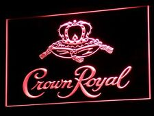 Crown Royal Beer Bar LED Neon Sign Man Cave Decor  A104-R