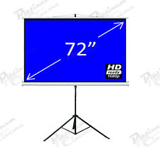 "New 72"" Portable Tripod Projection Screen home cinema Projector Glass Bead 4:3"