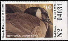 NEVADA #31 2009 STATE DUCK  STAMP CANADA GOOSE