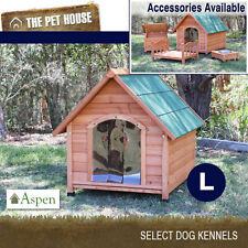 NEW Aspen Large A-Frame Wooden Dog House Wood Timber Kennel