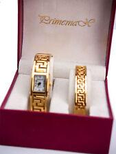PRIMEMAX:WOMEN'S GOLD FINISH BANGLE  ANALOG WATCH WITH BANGLE BRACELET SET