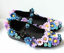 FLOWER FAIRY FAE ALICE mary jane SHOES FLATS  GOTHIC LOLITA KAWAII PASTEL GOTH