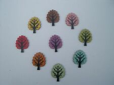 Wooden Craft Buttons In Tree design/needlecrafts/scrapbooking/embelishments