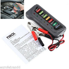 Portable Plastic&Copper Material 12V Battery Alternator Tester 6LED Lamp Display