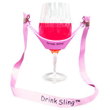 Hands Free Pink Wine Glass Holder with Pink Lanyard