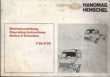 LKW HANOMAG F 20 - F 35 Betriebsanleitung Operating Instructions Notice d´... BA
