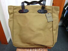 FILSON Tote Bag w/out zipper Dark Tan New Made in USA