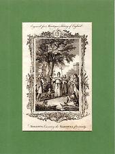 Samuel Wale-berinus convierte los sajones al cristianismo-raro en Talla Dulce (1770)