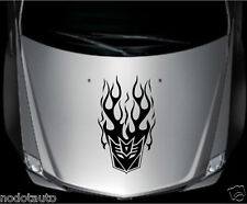 Car Transformers Decepticon Flames Vinyl Hood Decal sticker #TF27