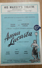 1948 His Majesty's Theatre: Hilda Simms & Frederick O'Neal in ANNA LUCASTA