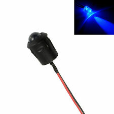 Large 10mm Flashing Blue LED Car, Motorcycle, Shed, Boat Dummy Fake Alarm 12V