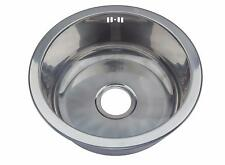 Small Single 1.0 One Round Bowl Stainless Steel Inset Kitchen Sink Sinks M08 mr