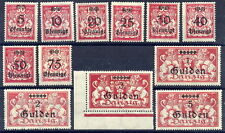 DANZIG 1923 Gulden Currency set MNH / **