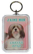 """Porte clé chien """"J'aime mon Lhassa Apso""""  idée cadeau pas cher NEUF"""
