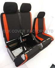 VW TRANSPORTER T5 VAN SEAT COVER MADE TO MEASURE RED SPORT TRIM P50RD IN STOCK!!