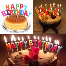 Happy Birthday Letter Candles Toothpick Cake Cute Candle Kids Party Decoration