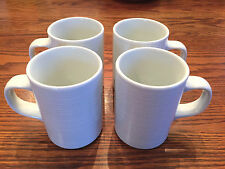 Set 4 Dansk CENTRA WHITE Mugs/Cups Raised Rings~MORE PIECES AVAIL~FREE SHIP!
