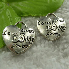free ship 200 pieces tibet silver heart charms 23x21mm #4002