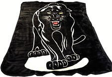 Super Soft Black Panther Faux Fur Mink Fleece Blanket Throw Bedroom Home Animal