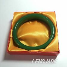 "100% Natural Green Hetian Nephrite Jade Bangle Bracelet ""Handmade"" A Grade"