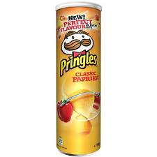 Pringles CLASSIC PAPRIKA Potato Chips - 195g - Made in Blegium