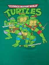 TEENAGE MUTANT NINJA TURTLES RETRO DISTRESSED GRAPHIC - LARGE GREEN T-SHIRT M471