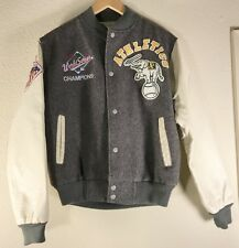 Vtg Chalk Line Oakland Athletic's As World Series Letterman Varsity Jacket Small