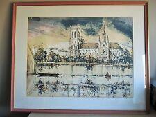 Elie Pesatori  Epreuve d'artiste Lithographie Notre Dame de Paris - 20262