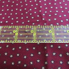 Christmas cotton fabric primitive Burgundy star tiny print BTHY half yard cut