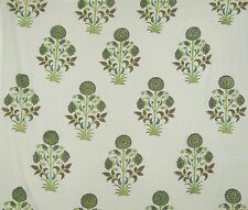 Cotton Voile Fabric Supply Indian Sewing Hand Block Print Craft By The Metre