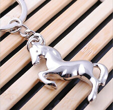 1PCs new creative cute fashion horse metal keychain gift cards Gift buckle