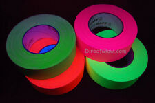 4 Pack 2 Inch UV Blacklight Reactive Fluorescent Gaffer Tape 4 Rolls x 50 Yards