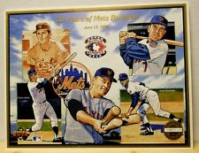 New York Mets 1992 Upper Deck Lithograph baseball 8.5 x 11 Bud Harrelson