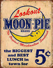 "TIN SIGN- 'MOON PIE -BEST LUNCH ""  FOOD METAL WALL ART  Home DECOR"
