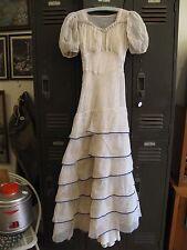 Vintage 1910s POLKA DOT Edwardian Lawn or Tea Dress Size S / XS WEARABLE Ivory