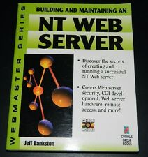 Building and Maintaining an NT Web Server by Jeff Bankston 1996 CD-ROM Paperback