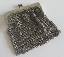 BOURSE PORTE LOUIS D'OR MONNAIE en métal argenté plaqué argent poinçons purse