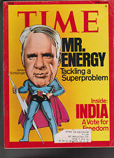 Time Magazine James Schlesinger India April 4 1977