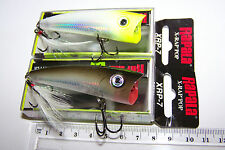 RAPALA FISHING LURES, PAIR OF XRP-7, X-RAP POPPER. Never wet!  Barra, Bass, Cod.