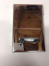 Peugeot 204 cabrio ref178 voiture emblème sur un en acier inoxydable business card holder