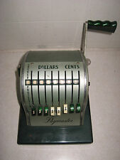 Vintage Green Paymaster Series S-1000 check writer with Key