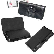 custodia in eco pelle con attacco da cintura nera per Huawei Ascend P8 Y300 Y330