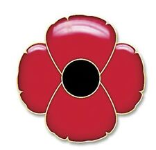 Metal Red Poppy  Remembrance Day - Memorial Day Lapel Pin.ANZAC Day