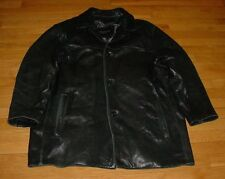 Marc New York Andrew Marc Mens Smooth Lamb-Leather Car Coat/Jacket Black XL