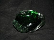 Vintage Heavey Green Bubble Candy Dish