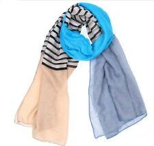 fashion TOP QualIty Designer Mixed Colors Colorful Stripes Cotton Yarn Scarf