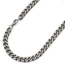 """24"""" Men's Titanium Polished Curb Chain Link - 24 inch X 8mm - 24TMCH265-TY0"""