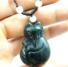 China 100% natural jade hand-carved the statue of fox PENDANT Z103