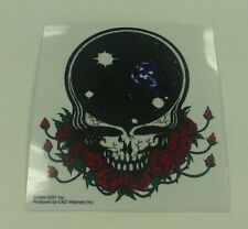 GRATEFUL DEAD STICKER DECAL BUMPERSTICKER SPACE YOUR FACE WITH RED ROSES