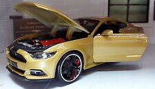 Gold Custom Ford Mustang 2015 3.7 5.0 V8 GT 1:24 Scale Maisto Model Car 31369